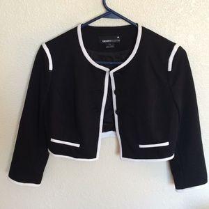 Forever 21 Mini Formal Black and White Jacket